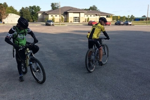 Starting back up our mountain bike rides! It's not all about the road.  #aplvncc #mountain bike #fireman's park